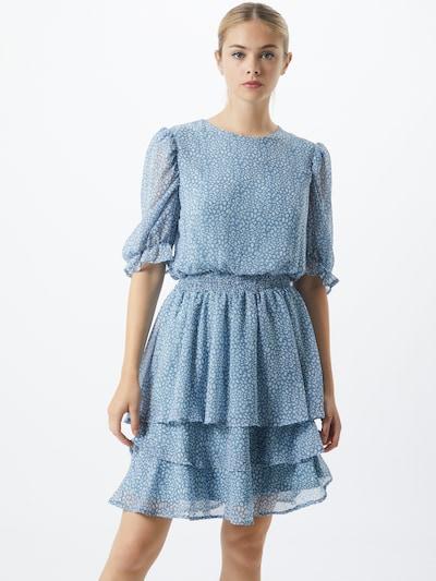 SISTERS POINT Kleid 'NICOLINE' in rauchblau / weiß, Modelansicht