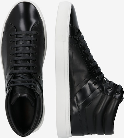 HUGO Sneaker 'Futurism_Hito' in schwarz / weiß: Seitenansicht
