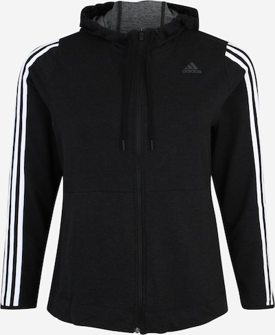 ADIDAS PERFORMANCE Sweatjacke '3S KNT FZ' in schwarz / weiß, Produktansicht