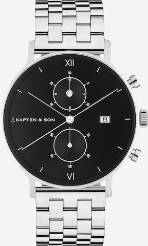 Kapten & Son Analog klokke 'Chrono Steel' i sølv