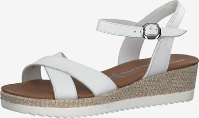TAMARIS Sandaler med rem i hvid, Produktvisning