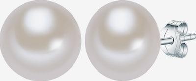Valero Pearls Perlenohrstecker mit Süßwasser-Zuchtperle in silber / naturweiß, Produktansicht