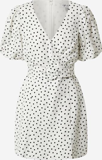 Forever New Haljina 'Maggie Linen Wrap Dress' u crna / bijela, Pregled proizvoda
