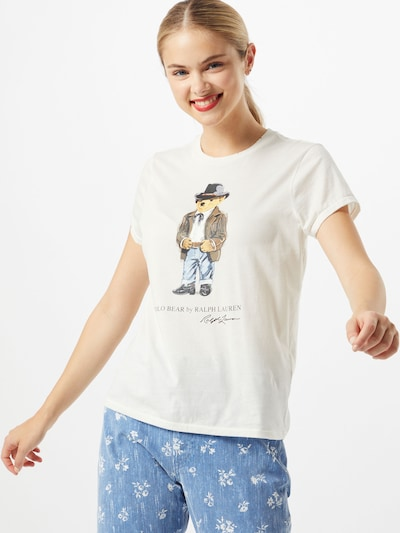 POLO RALPH LAUREN Koszulka w kolorze jasny beż / mieszane kolorym: Widok z przodu