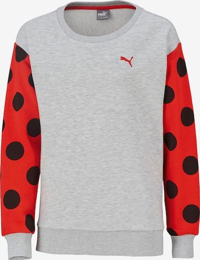 PUMA Sweatshirt 'Tabaluga' in graumeliert / rot / schwarz, Produktansicht