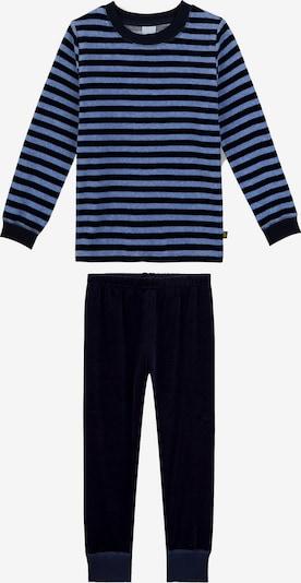 SANETTA Schlafanzug in blau / nachtblau: Frontalansicht