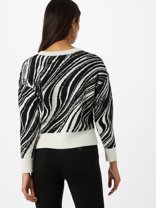 GUESS Trui 'Nicole' in Zwart Wit | ABOUT YOU