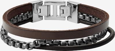 FOSSIL Armband in braun / dunkelbraun / schwarz / silber, Produktansicht