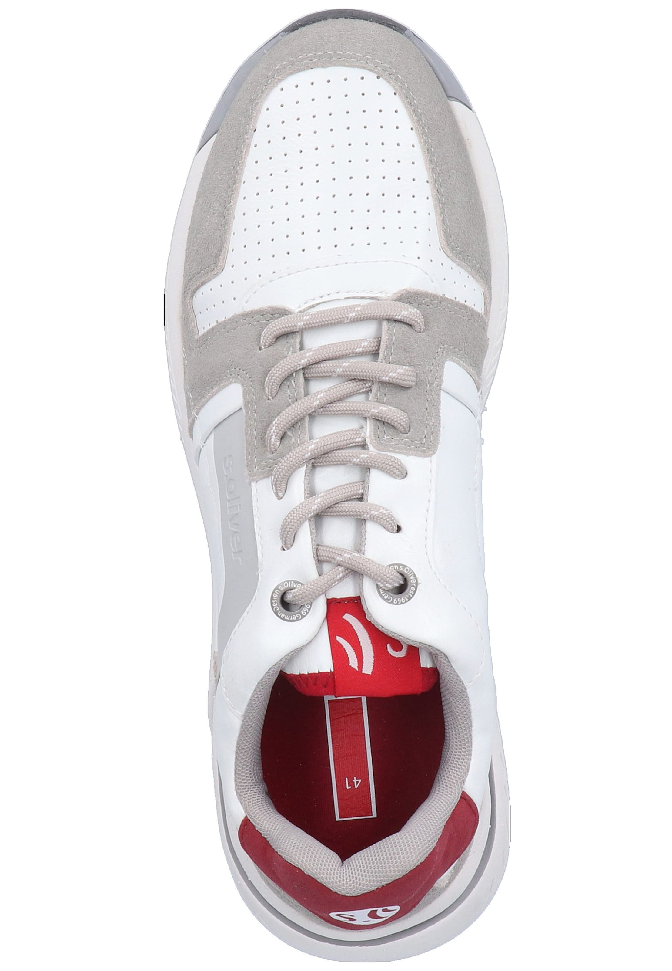 S GreigeRot Red Weiß Label Sneaker In oliver wk8PZnNOX0