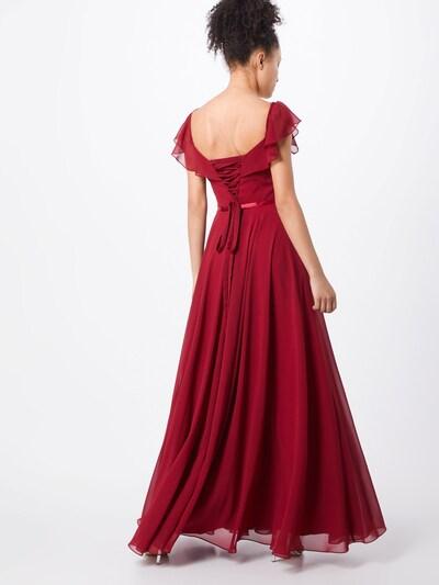Vakarinė suknelė 'FRILLED' iš mascara , spalva - vyno raudona spalva: Vaizdas iš galinės pusės