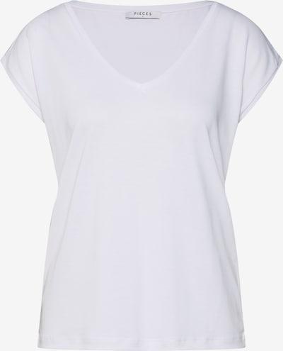 PIECES Shirt 'PCKAMALA TEE NOOS' in weiß, Produktansicht