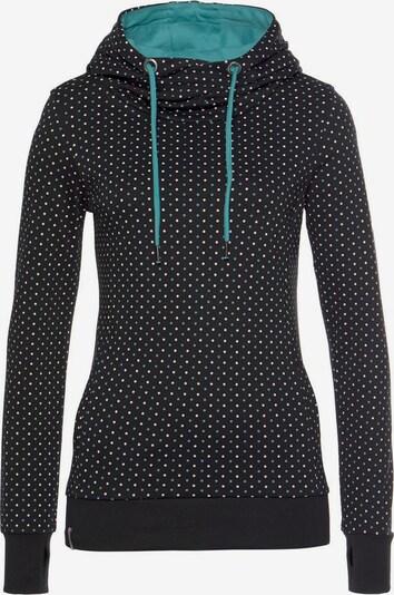 KangaROOS Sweatshirt in türkis / schwarz, Produktansicht