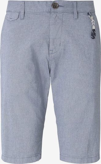 TOM TAILOR Shorts in taubenblau / weiß, Produktansicht