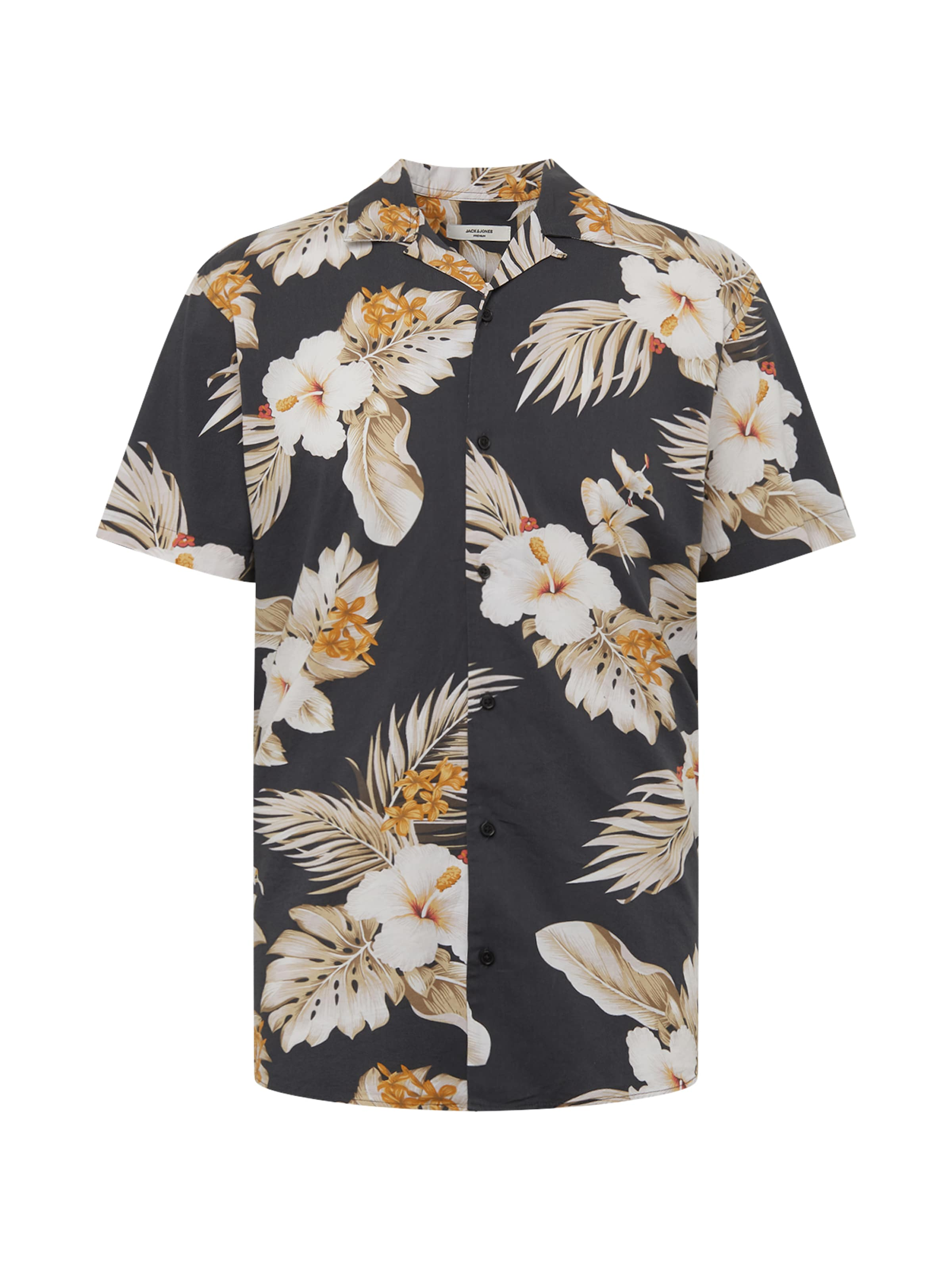 Jones Weiß Hemd 'jprhawaii Schwarz Resort Jackamp; S Aop' In BeigeOrange Shirt s EHW9ID2Y