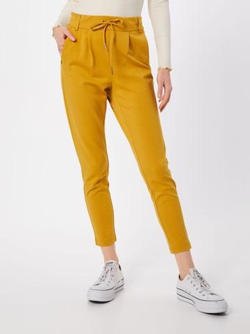 Pantaloni cutați 'Poptrash' de la ONLY pe galben