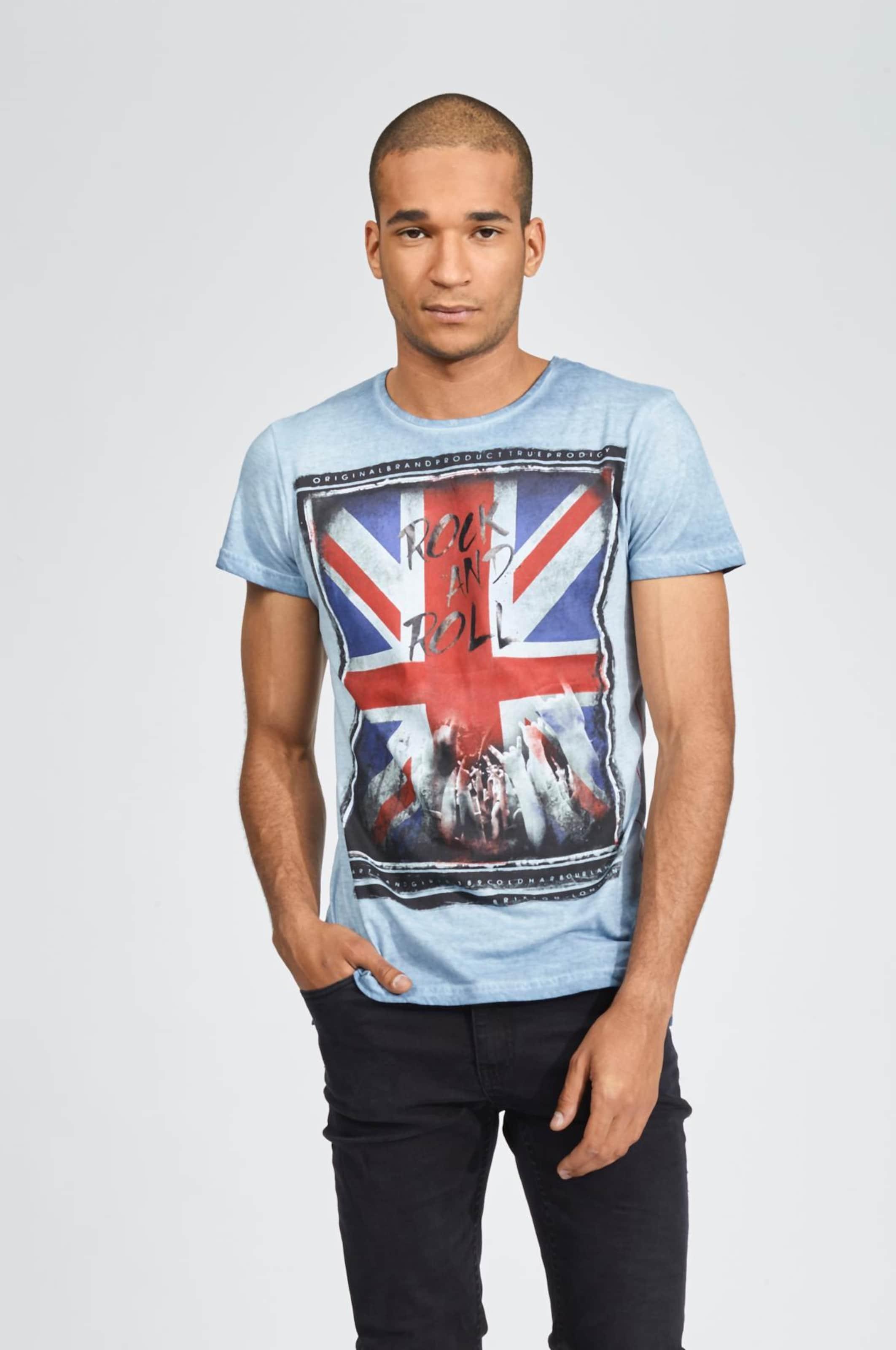 In shirt Trueprodigy Schwarz Rot Roll Unity' BlauTaubenblau T 'rockamp; IeWE92DHYb