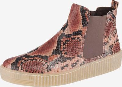GABOR Chelsea Boots en mélange de couleurs / rose: Vue de face