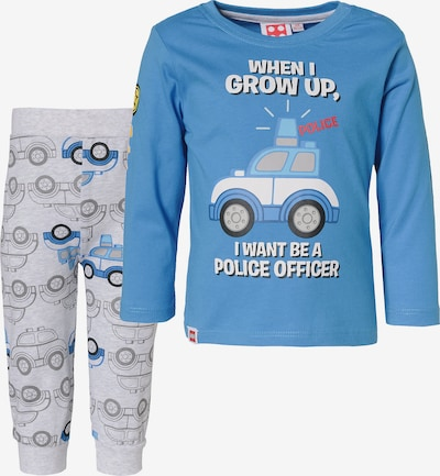 LEGO Schlafanzug in blau / grau: Frontalansicht