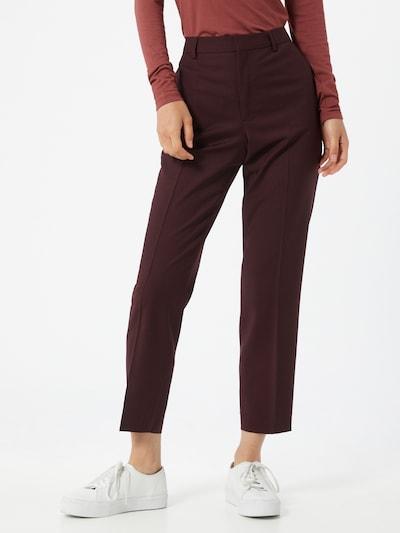 Pantaloni cu dungă 'Emma' Filippa K pe roșu vin, Vizualizare model
