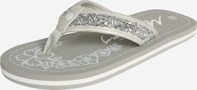 MUSTANG Zehentrenner in grau / silber, Produktansicht