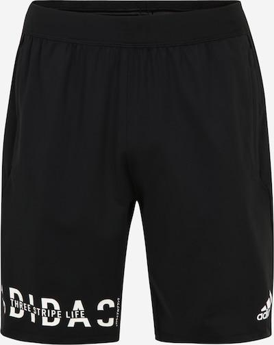 ADIDAS PERFORMANCE Športne hlače '4K HYPER' | črna / bela barva, Prikaz izdelka
