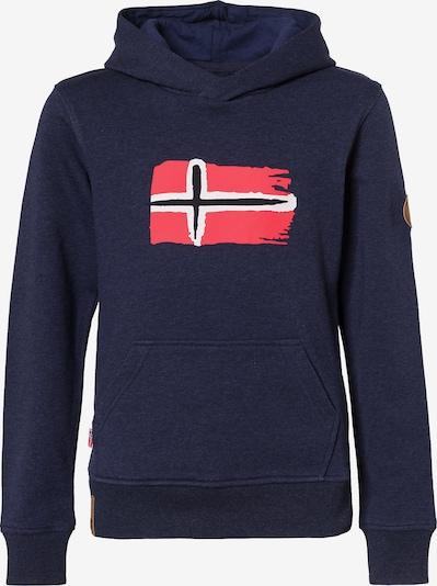 TROLLKIDS Sports sweatshirt 'Trondheim' in marine blue / Red / White, Item view