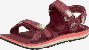 JACK WOLFSKIN Sandale 'Outfresh Deluxe' in Rot