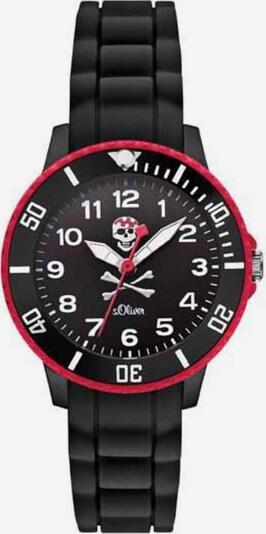 s.Oliver Uhr in rot / schwarz, Produktansicht