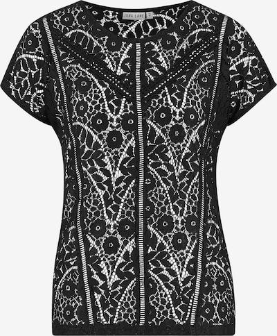 Juna Lane Kurzarm Spitzenshirt in schwarz: Frontalansicht