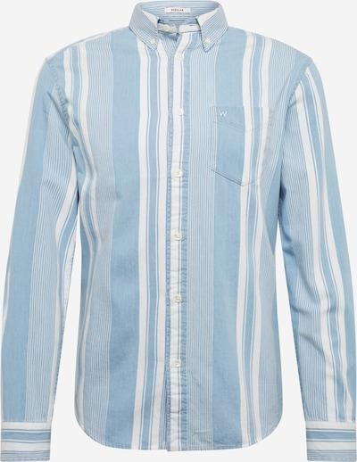 WRANGLER Hemd 'LS 1PKT BDOWN SHIRT' in indigo / offwhite, Produktansicht