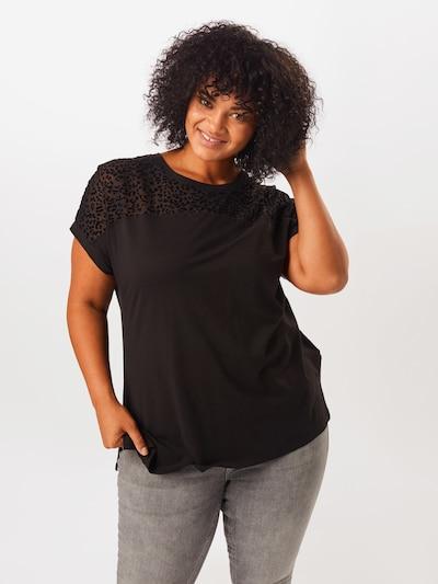 ONLY Carmakoma Shirt 'BESTIE' in schwarz: Frontalansicht