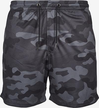 Urban Classics Camo Mesh Shorts in grau / basaltgrau / schwarz, Produktansicht