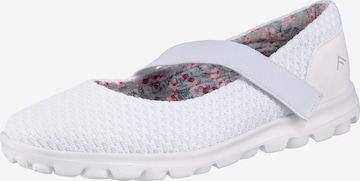Freyling Ballet Flats with Strap 'Frey-Jane' in White