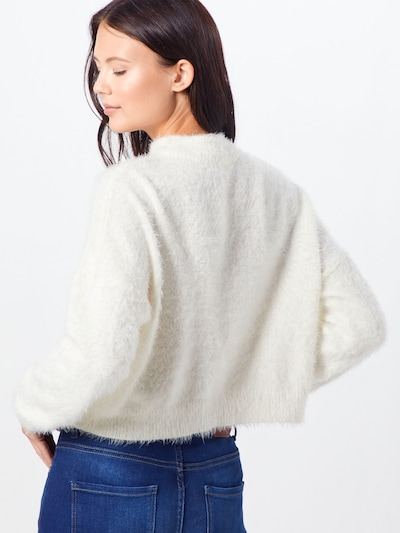 ONLY Sweter w kolorze białym: Widok od tyłu