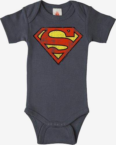 "LOGOSHIRT Body ""Superman"" in dunkelblau / gelb / rot, Produktansicht"