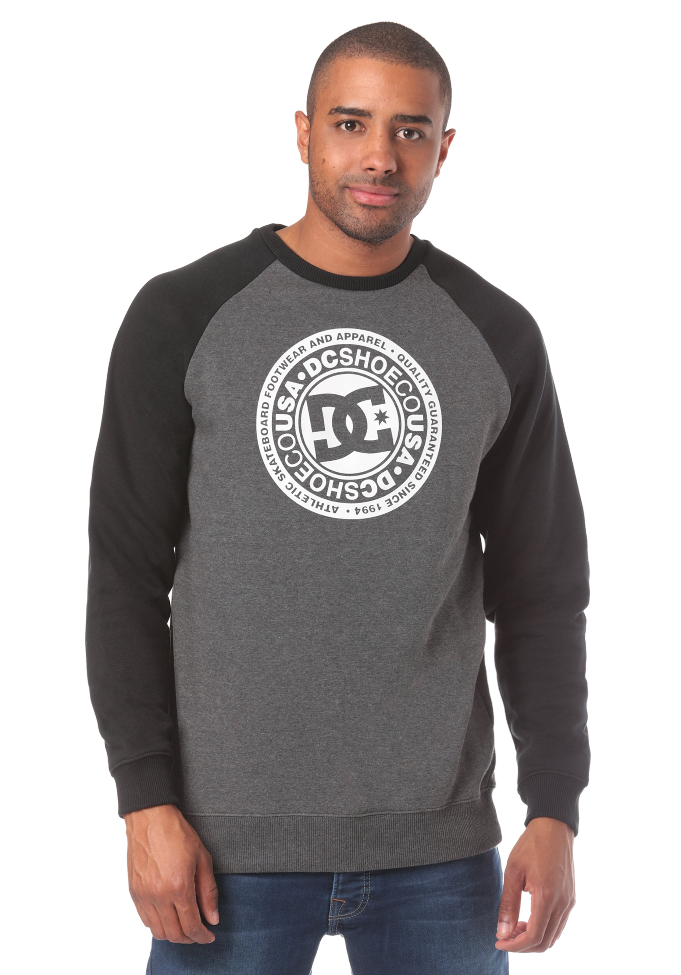 In Dc Circle Star Crew Shoes GrauAnthrazit Sweatshirt 5j34RqcLA