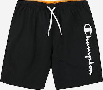 Shorts de bain Champion Authentic Athletic Apparel en noir