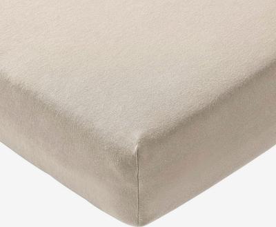 JOOP! Spannbettlaken 'Mako Jersey' in beige, Produktansicht