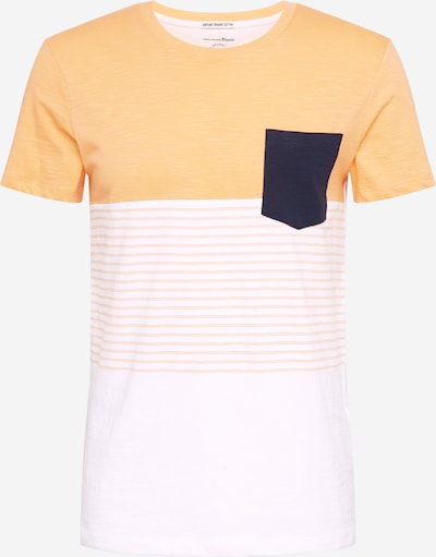 TOM TAILOR DENIM T-Shirt in orange / schwarz / weiß, Produktansicht