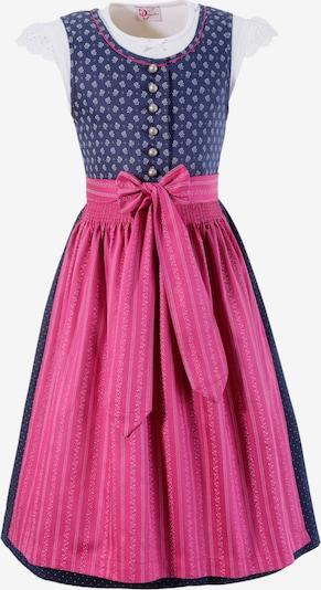 TURI LANDHAUS Dirndl 3tlg. Kinder mit Jerseybluse in blau / pink / weiß, Produktansicht