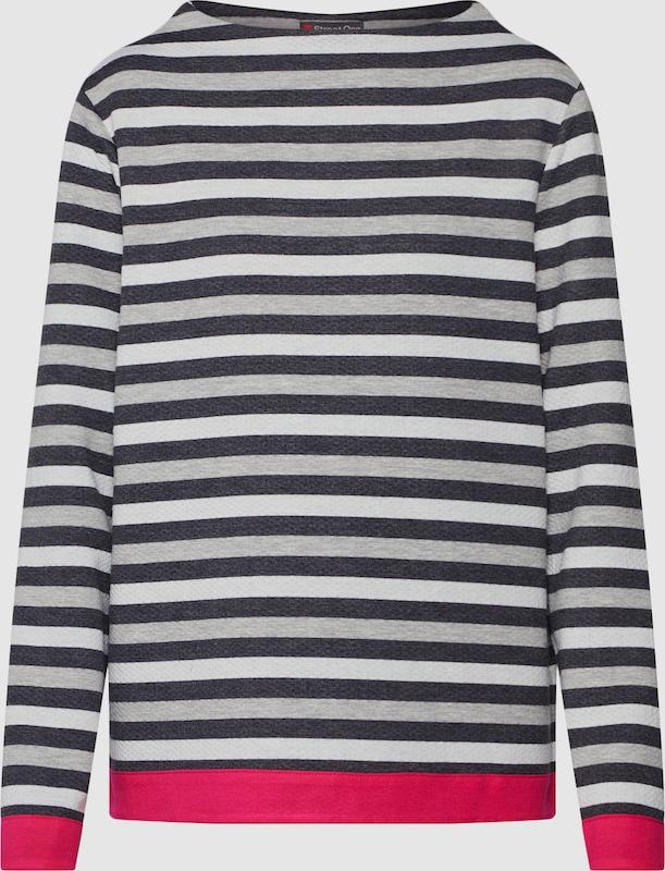 STREET ONE Sweatshirt in anthrazit   graumeliert   Rosa  Neu in diesem Quartal