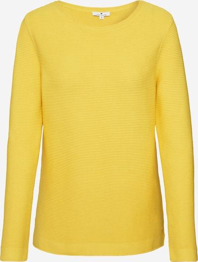 TOM TAILOR Pullover 'ottoman' in gelb, Produktansicht