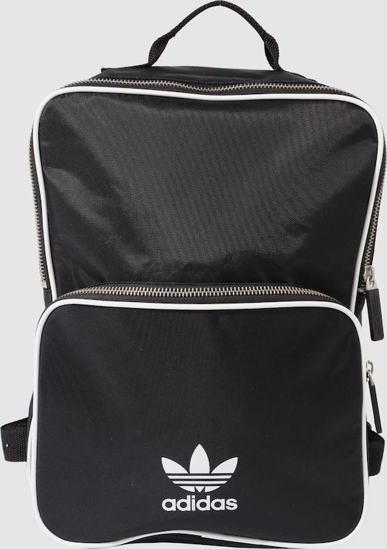 adidas originals rucksack mit aufsetztasche in schwarz. Black Bedroom Furniture Sets. Home Design Ideas