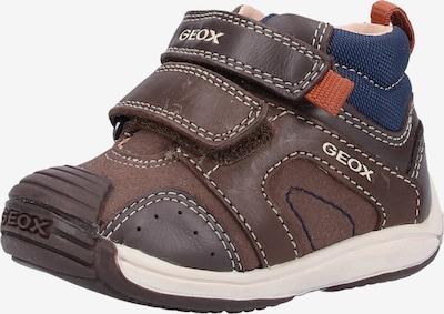 GEOX Baskets en bleu marine / marron, Vue avec produit
