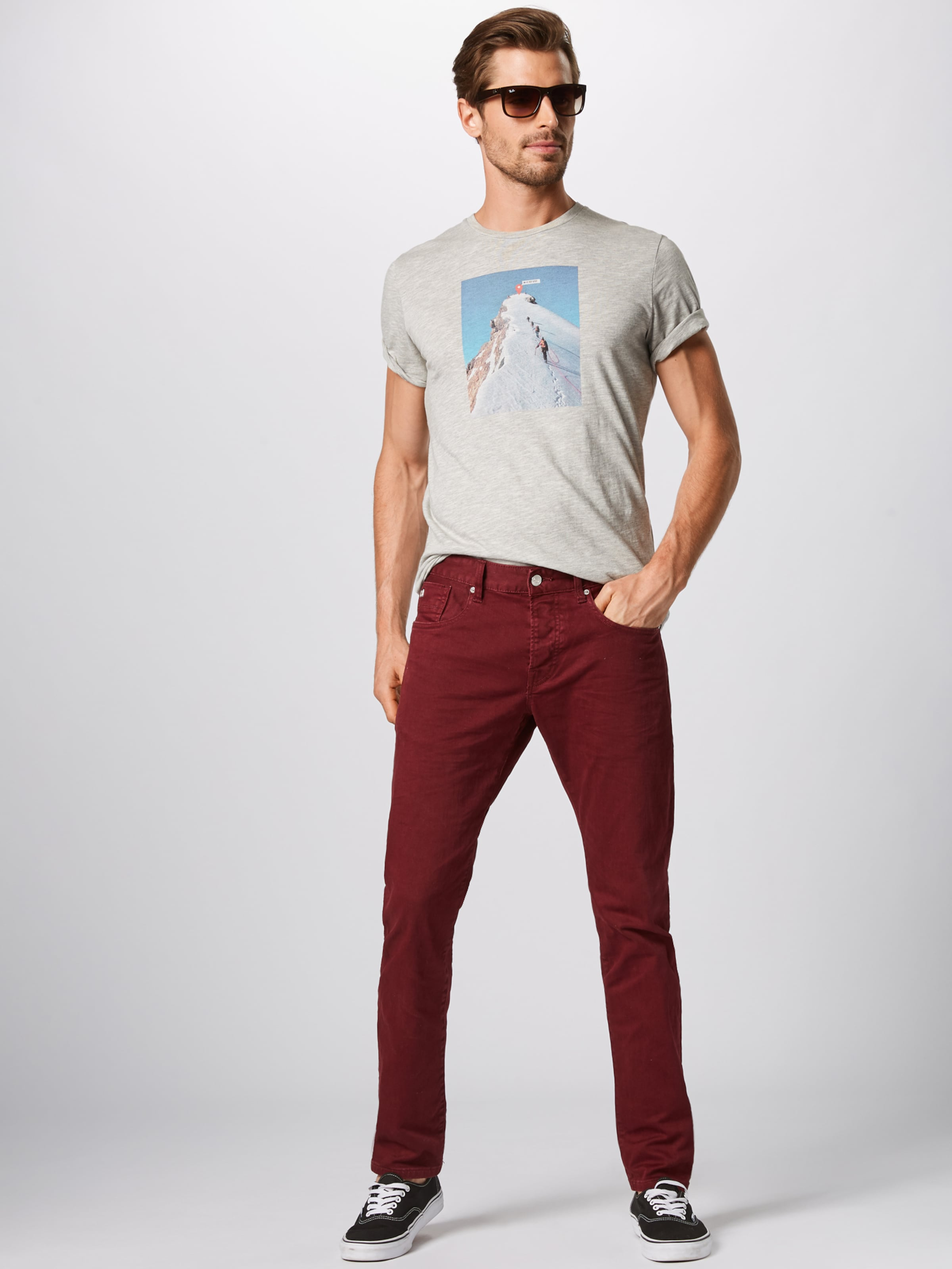 Jones Jackamp; En shirt T BleuGris Chiné qMzVSpU