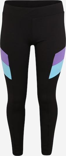 Urban Classics Curvy Leggings en azul / lila / negro, Vista del producto