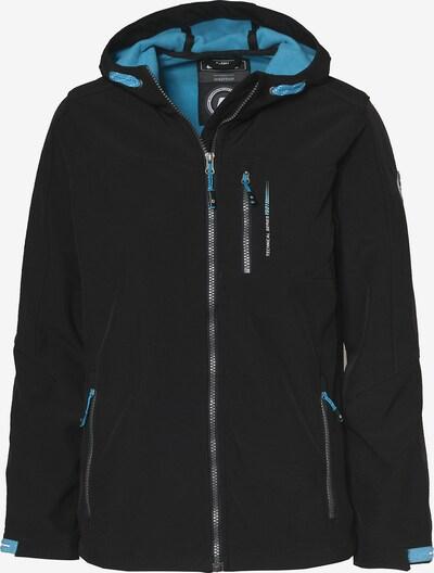 KILLTEC Softshelljacke 'ADAN' in hellblau / schwarz, Produktansicht