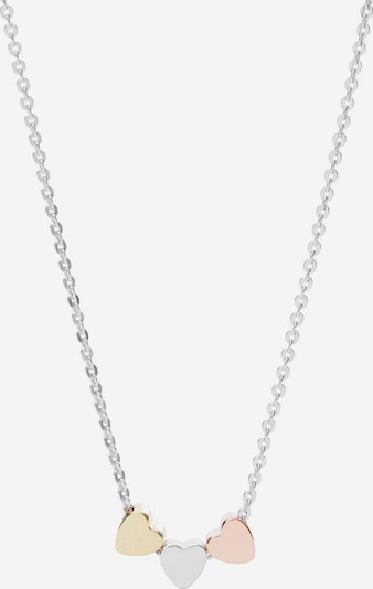 FOSSIL Kette 'Herzen' in gold / rosegold / silber, Produktansicht