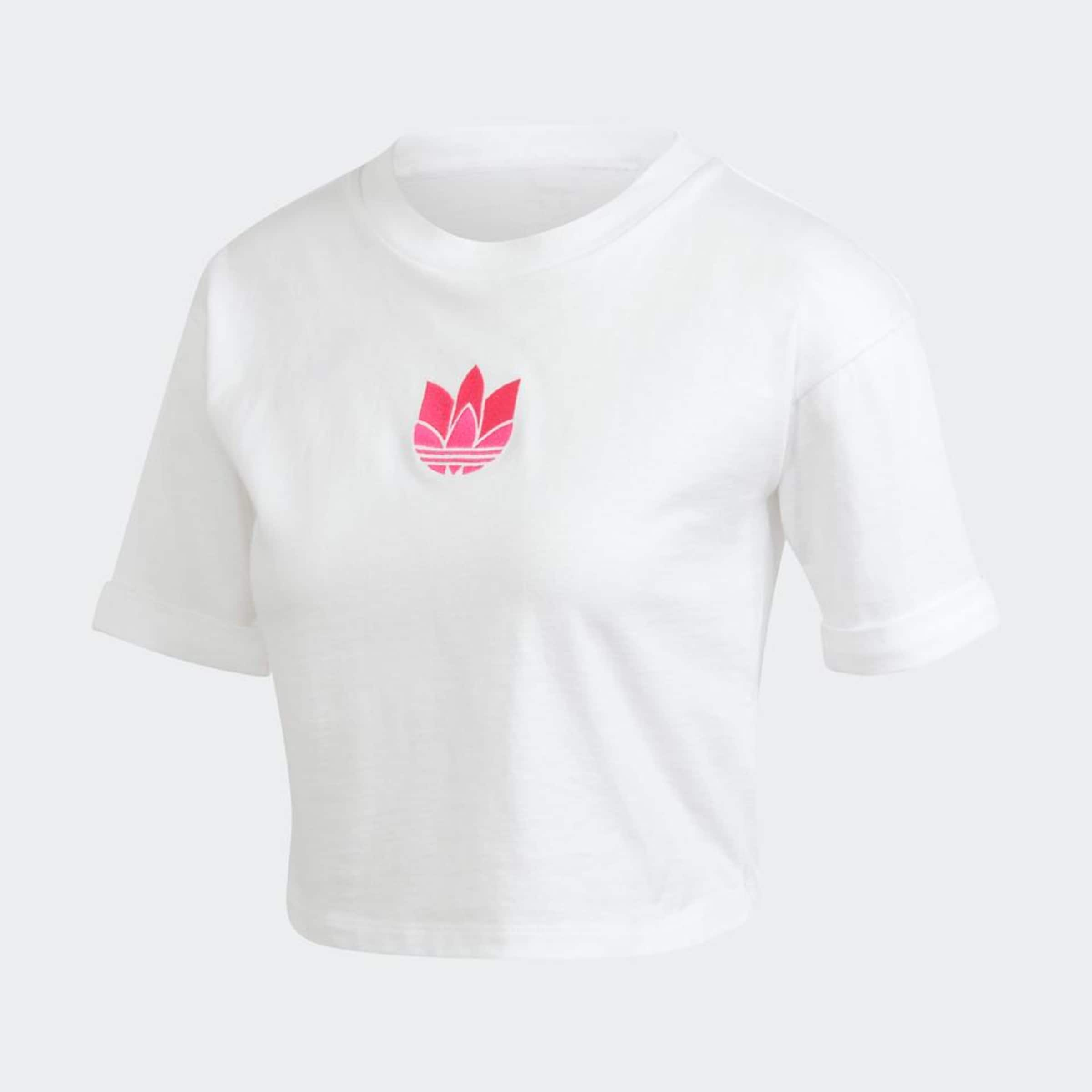 ADIDAS ORIGINALS Póló rózsaszín / fehér színben