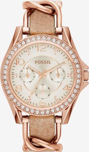 FOSSIL Analogové hodinky 'RILEY' - písková / zlatá / růžově zlatá, Produkt